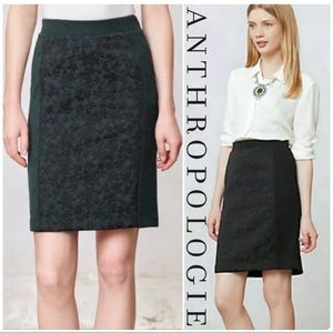 ANTHROPOLOGIE Green Moulinette Soeurs Piana Skirt